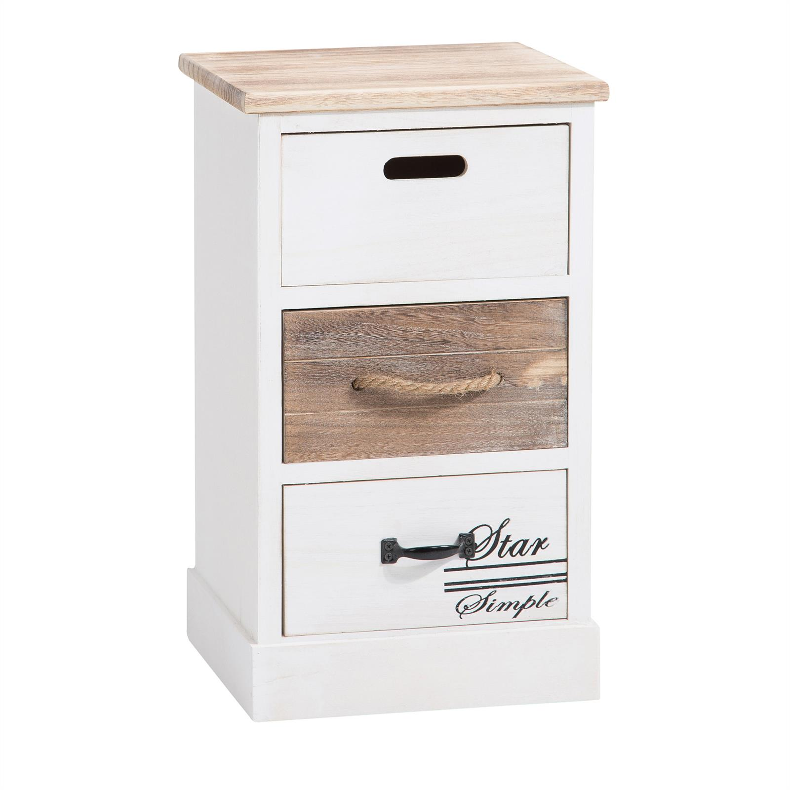 chiffonnier salva 3 tiroirs blanc mobil meubles. Black Bedroom Furniture Sets. Home Design Ideas