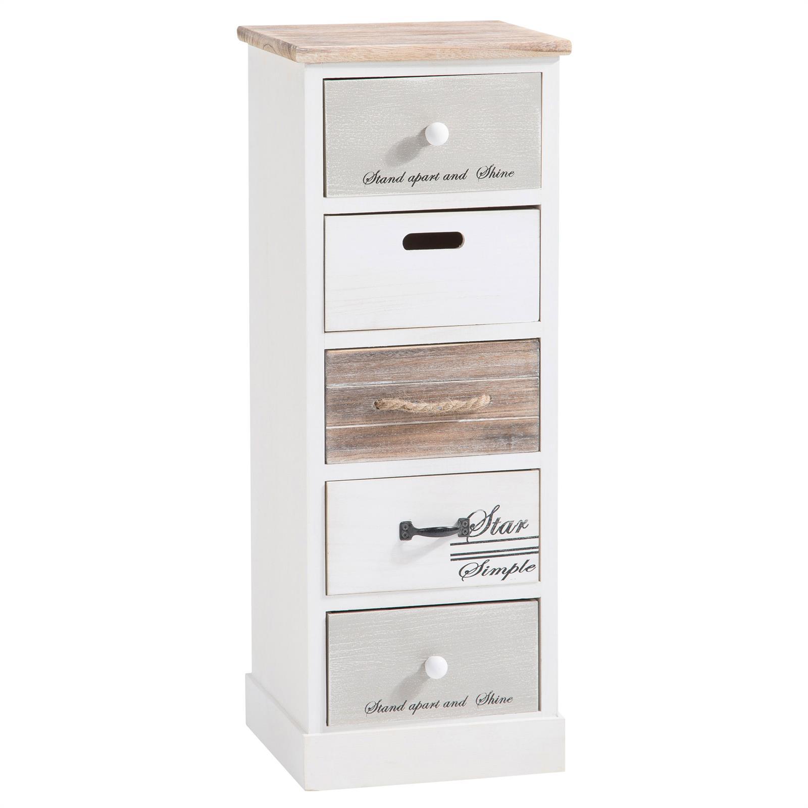 Chiffonnier salva 5 tiroirs blanc mobil meubles - Chiffonnier blanc 5 tiroirs ...