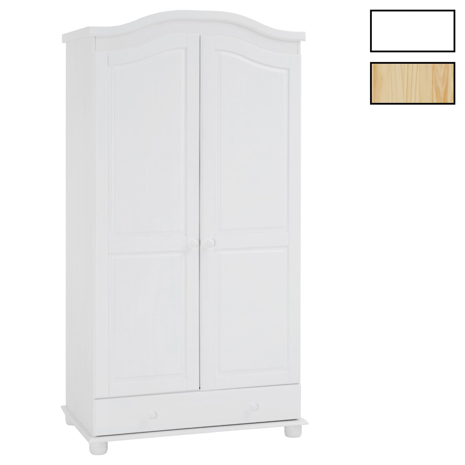 armoire en pin bergen 3 coloris disponibles mobil meubles. Black Bedroom Furniture Sets. Home Design Ideas
