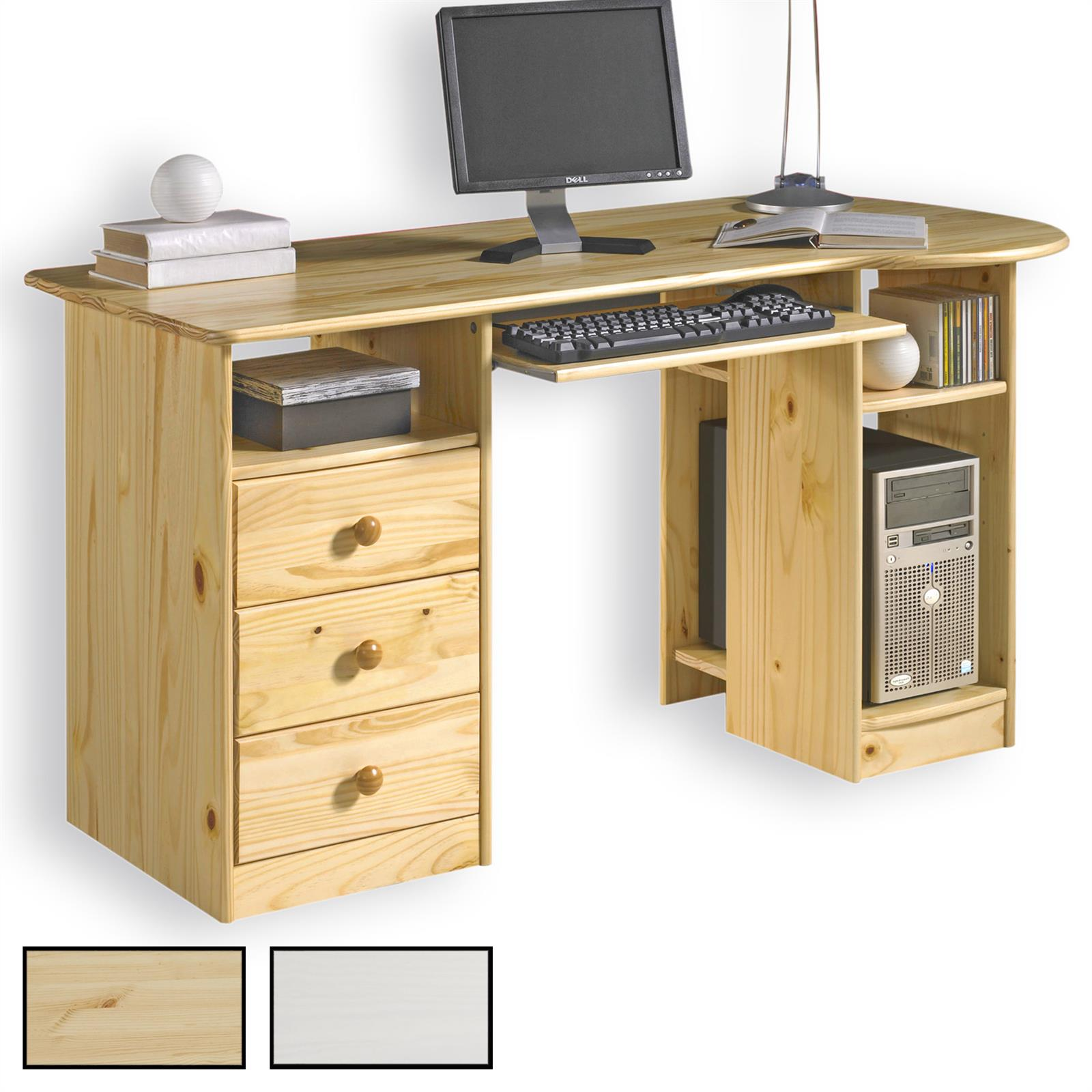 Bureau en pin bob 2 coloris disponibles mobil meubles for Bureau en pin
