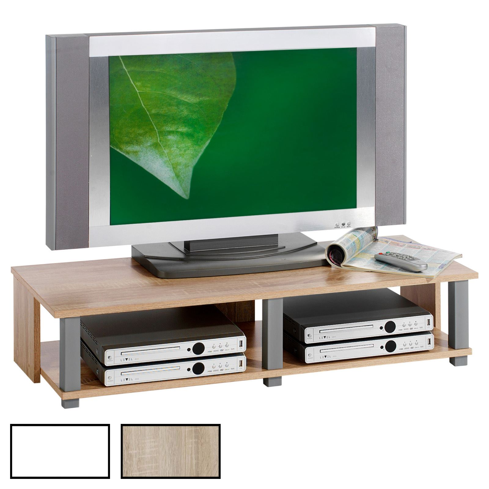 meuble tv gero 2 niches 2 coloris disponibles mobil meubles. Black Bedroom Furniture Sets. Home Design Ideas