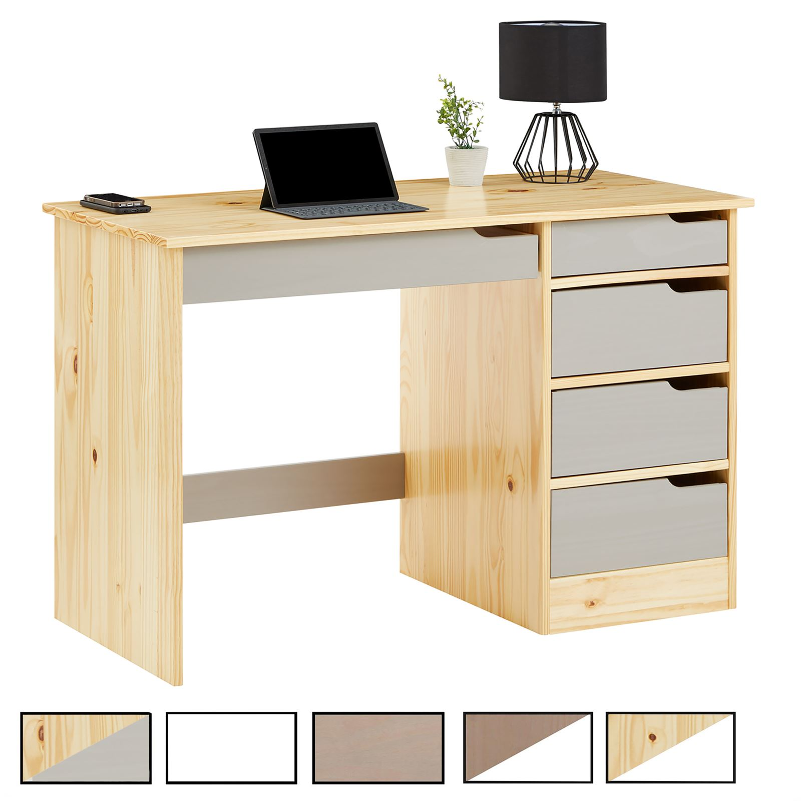 bureau en pin massif hugo mobil meubles. Black Bedroom Furniture Sets. Home Design Ideas