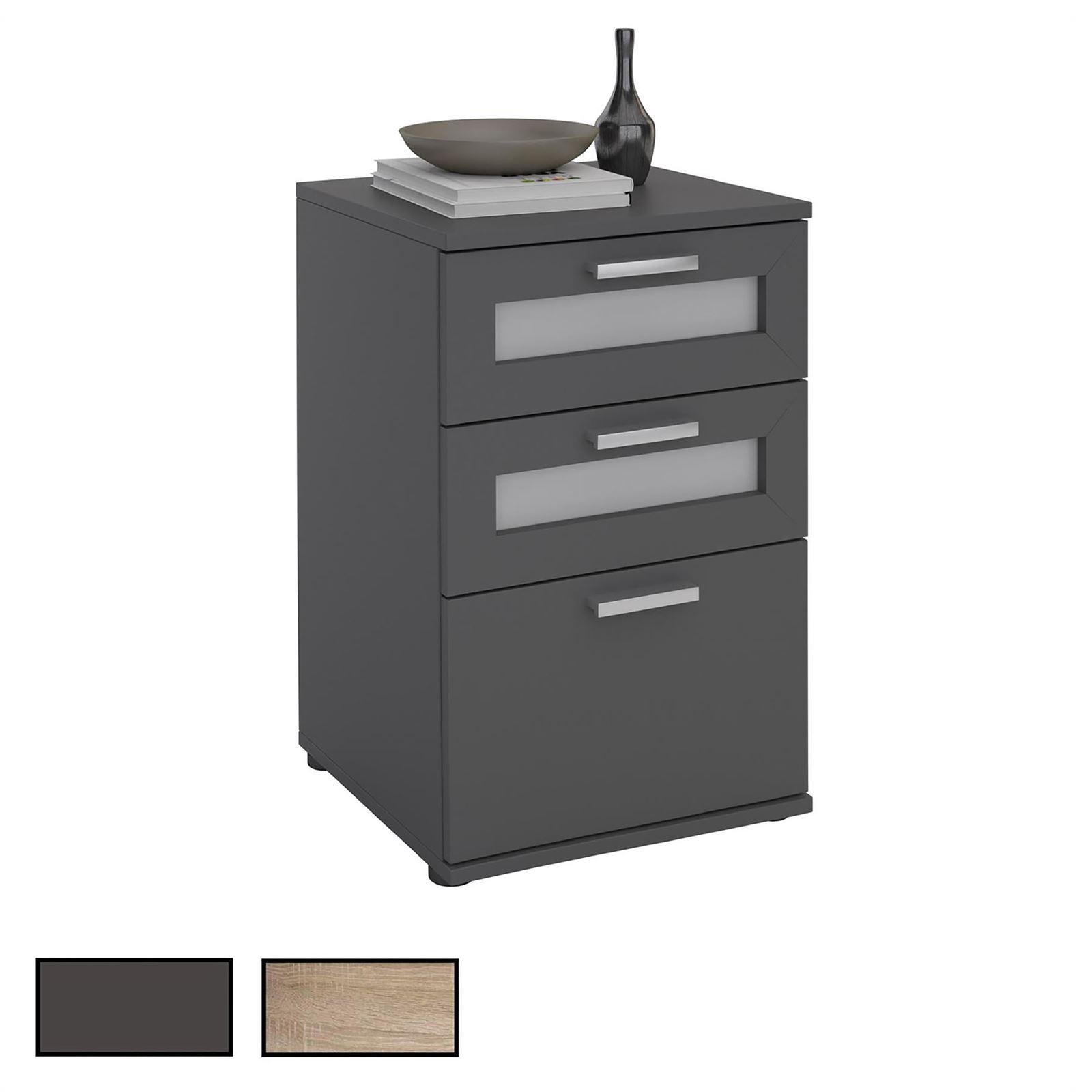 table de chevet 3 tiroirs jessy 4 coloris disponibles mobil meubles. Black Bedroom Furniture Sets. Home Design Ideas