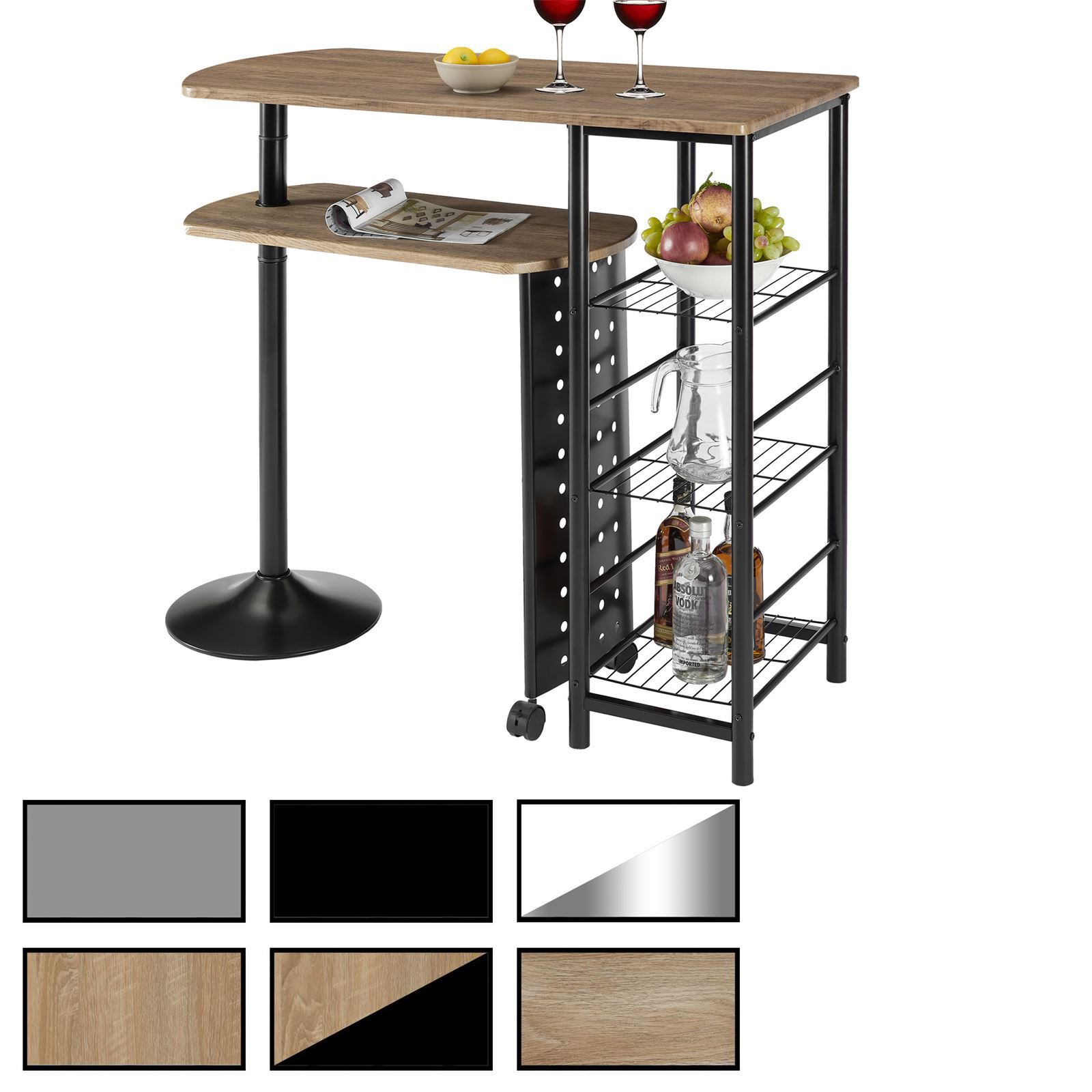 Table haute de bar josua 2 coloris disponibles mobil for Salle a manger table haute