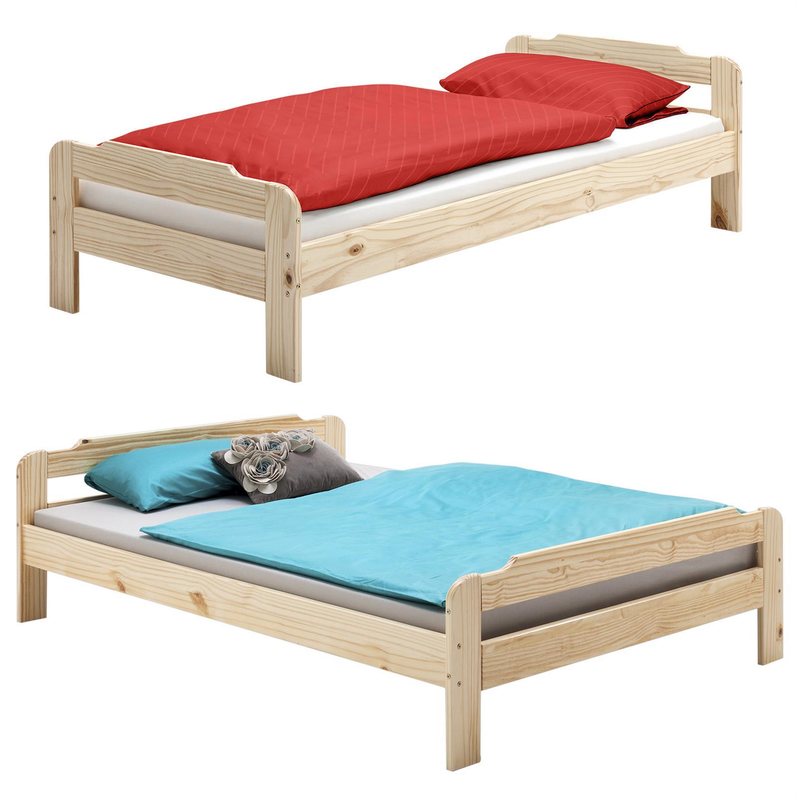 lit en pin marco vernis naturel 4 tailles disponibles mobil meubles. Black Bedroom Furniture Sets. Home Design Ideas