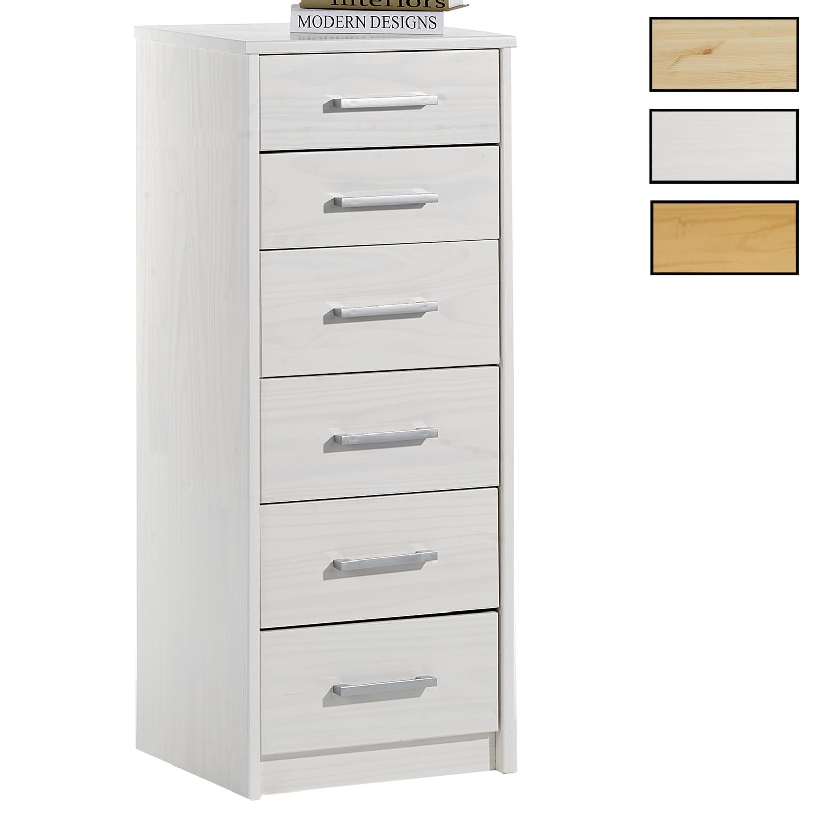 chiffonnier en pin tessa 2 4 tiroirs 3 coloris. Black Bedroom Furniture Sets. Home Design Ideas