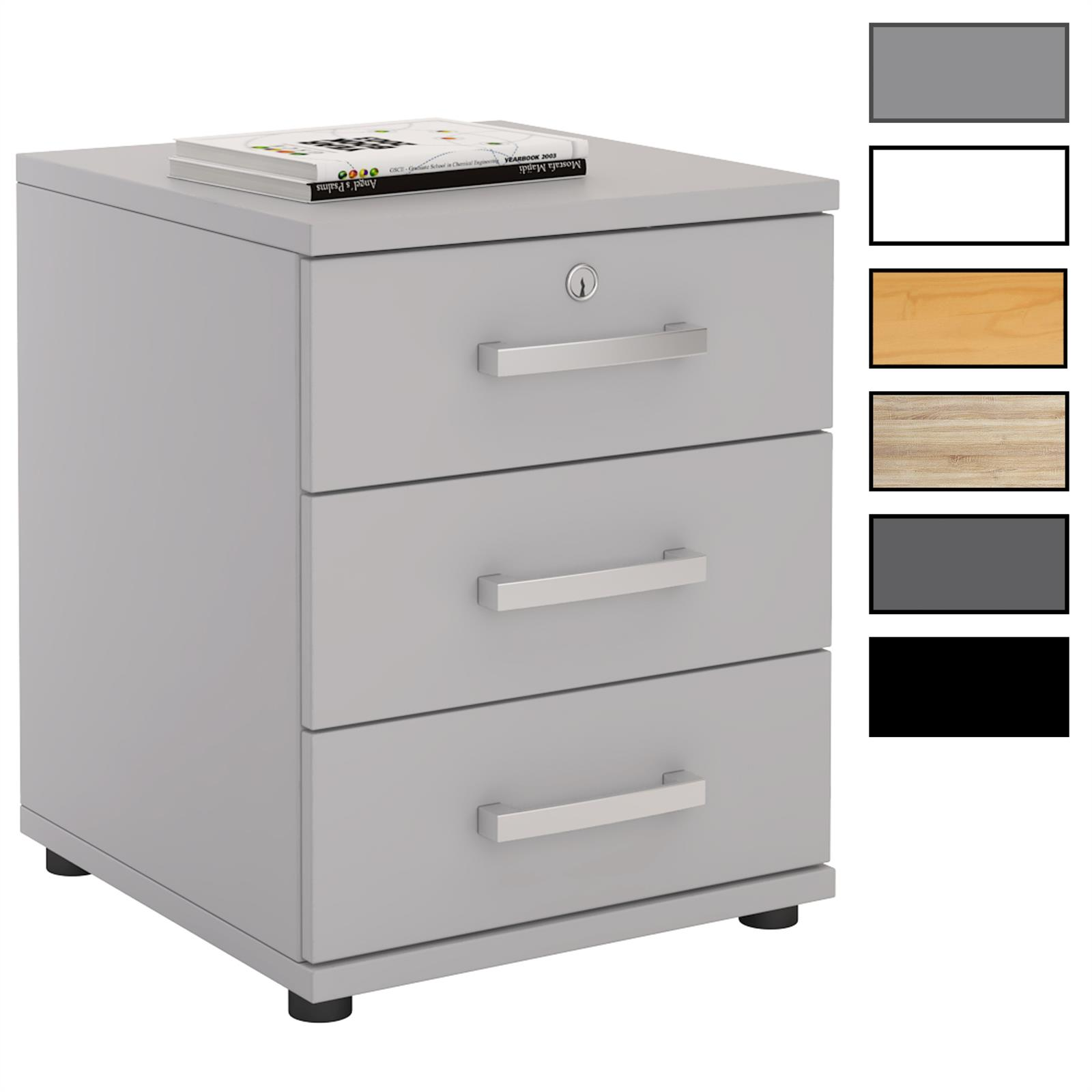 caisson de bureau 3 tiroirs yves 4 coloris disponibles mobil meubles. Black Bedroom Furniture Sets. Home Design Ideas