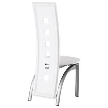 Lot de 4 chaises MONICA, blanc