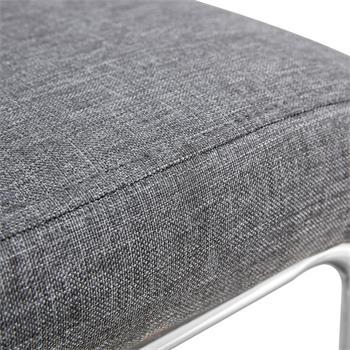 Lot de 4 chaises ALADINO, en tissu gris