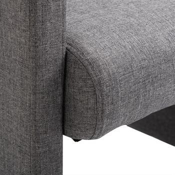 Fauteuil sur roulettes ANTONIA, revêtement en tissu gris