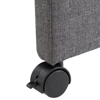 Fauteuil sur roulettes ANTONIA, en tissu gris