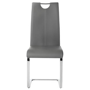 Lot de 2 chaises SABA, en synthétique gris