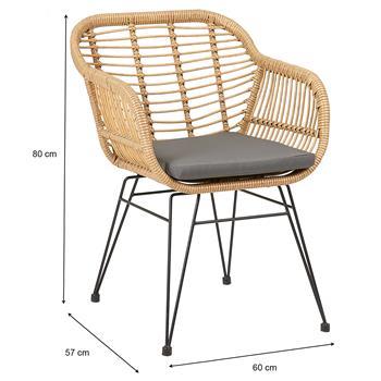 Chaise de salle à manger PARAMO, imitation rotin