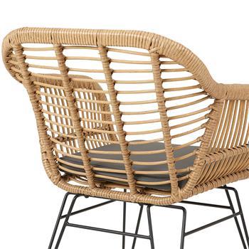 Lot de 2 chaises de jardin PARAMO, imitation rotin