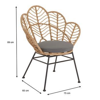 Chaise de salle à manger TEPAL, en imitation rotin