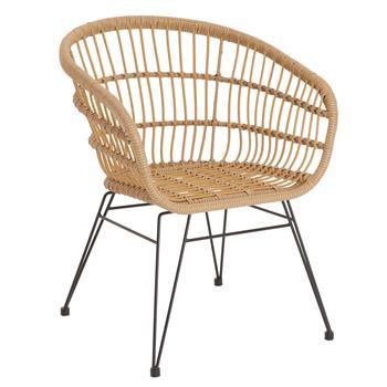 Lot de 2 chaises de jardin COSTA, imitation rotin