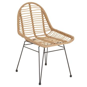 Chaise de salle à manger LOBOS, en imitation rotin