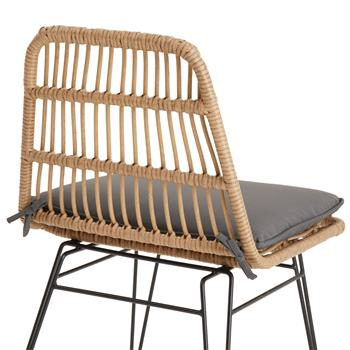 Chaise de salle à manger ENJOY, imitation rotin