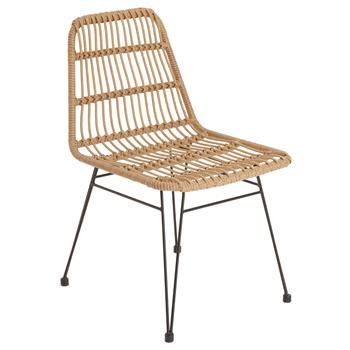 Lot de 2 chaises de jardin ENJOY, imitation rotin