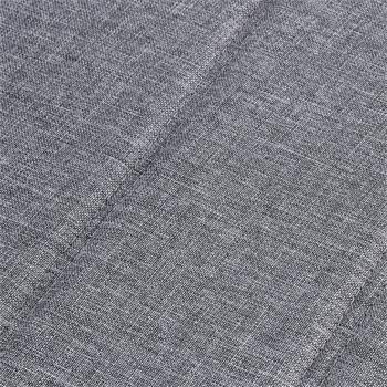 Lot de 4 chaises LETICIA en tissu gris