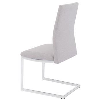 Lot de 2 chaises DORA, en tissu gris