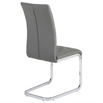 Lot de 2 chaises CHLOE, en synthétique gris