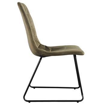 Lot de 2 chaises AKITA, en velours vert