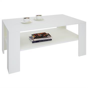 Table basse LORIENT, mélaminé, blanc mat