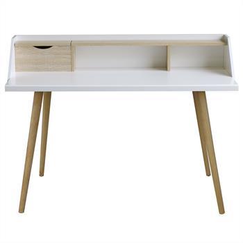 Console JOAN, décor blanc et chêne sonoma