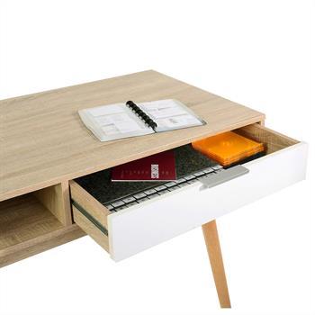 Console LEVANTE, décor chêne sonoma et blanc mat