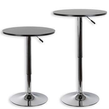 Table haute de bar VISTA, plateau en MDF noir mat