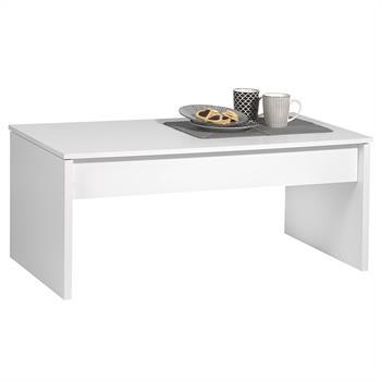 Table basse JOLIE mélaminé blanc