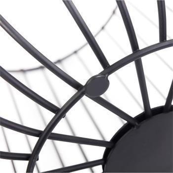 Table d'appoint DAYA, panier en métal noir
