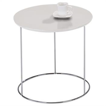 Table d'appoint ronde FIDELIUS, décor blanc