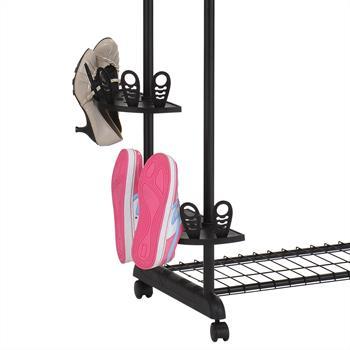 Portant sur roulettes REMKO avec support chaussures
