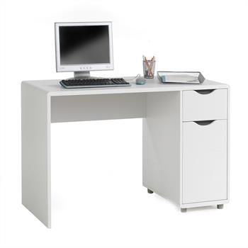 Bureau FOX, décor gris/blanc