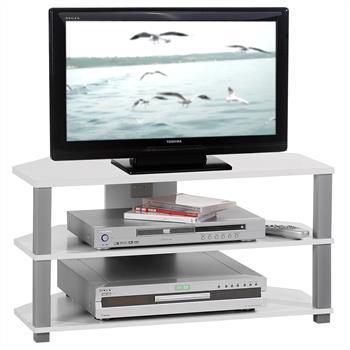 Meuble TV JACK, blanc et gris