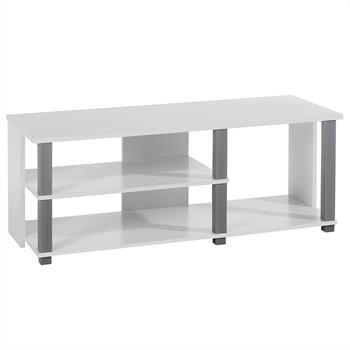 Meuble TV DENVER, blanc et gris