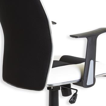 Fauteuil de bureau DIRK, avec accoudoirs, noir/blanc