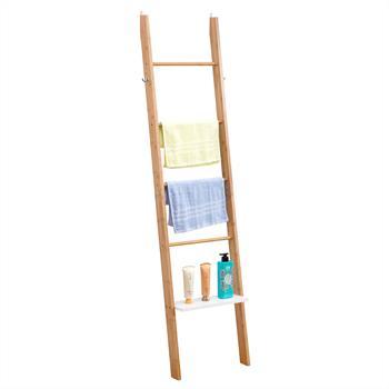 Etagère échelle de salle de bain MELBOURNE, en bambou