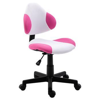 Chaise de bureau pour enfant OSAKA, blanc/rose