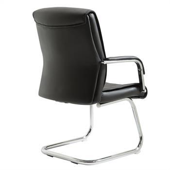 Chaise visiteur CEDRIC, en synthétique noir