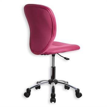 Fauteuil de bureau pour enfant LEON, rose