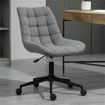 Chaise de bureau TALIA, en tissu gris