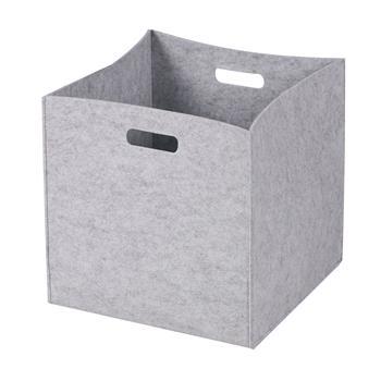 Lot de 2 boîtes de rangement FELT, en feutrine gris