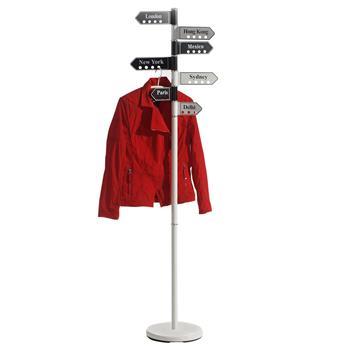 Porte-manteaux BERTA en métal laqué banc