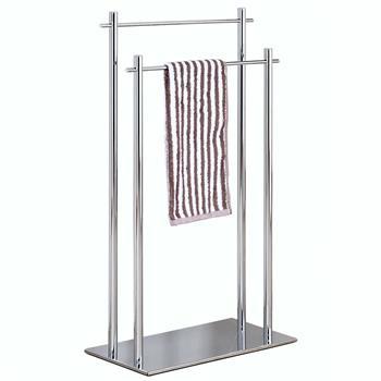 Porte-serviettes JACOBO 2 portants, en métal chromé