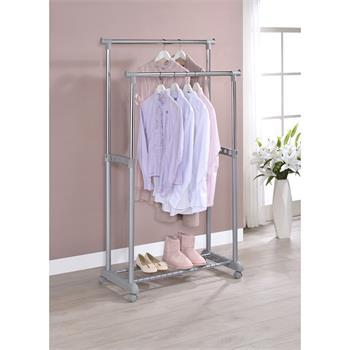 Portant à vêtements GROSSO, en métal chromé et gris