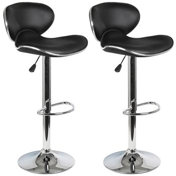 Lot de 2 tabourets de bar LOUNGE