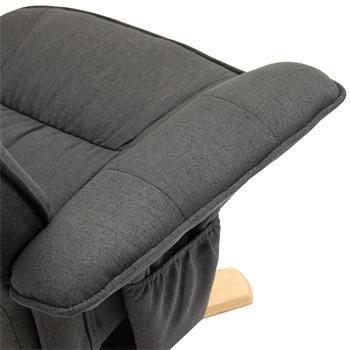 Fauteuil de relaxation avec repose-pieds CHARLY, en tissu gris anthracite